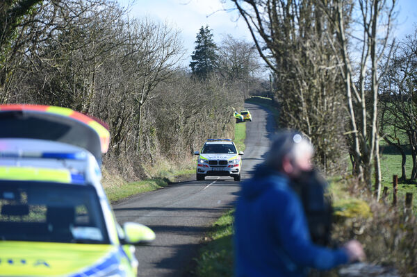 A number of checkpoints were set up in the area and the services of the garda air support units were requested to assist in the search for the van. Picture: Larry Cummins