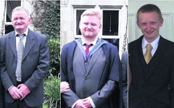 Tadgh, Mark and Diarmuid O'Sullivan, who died in a murder-suicide at their farm in Kanturk in October. Picture: Gardaí