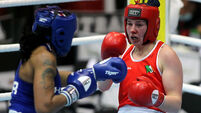 Aoife O'Rourke in action against Naomi Graham 26/2/2021
