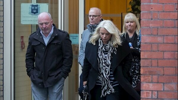 Members of the Hamilton family during the Coroners Court inquest. Picture: Gareth Chaney/Collins