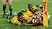 Wallabies push Lions to their limit