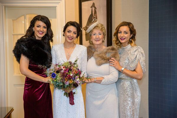 Una Brosnan with her sister Karen Healy, her mother, Mary Brosnan, and sister Louise McCarthy