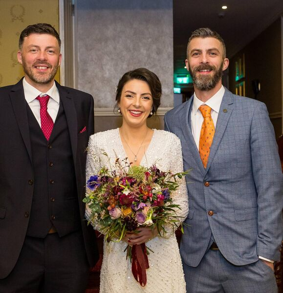 Una with her brothers Benny and Eoin Brosnan