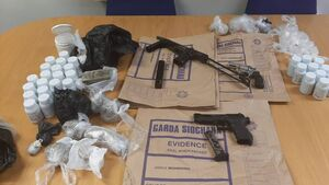Gardaí in Dublin seize three firearms and cocaine, heroin and tablets worth €115k