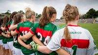 A general view of the Mayo ladies football team before the game 14/7/2018