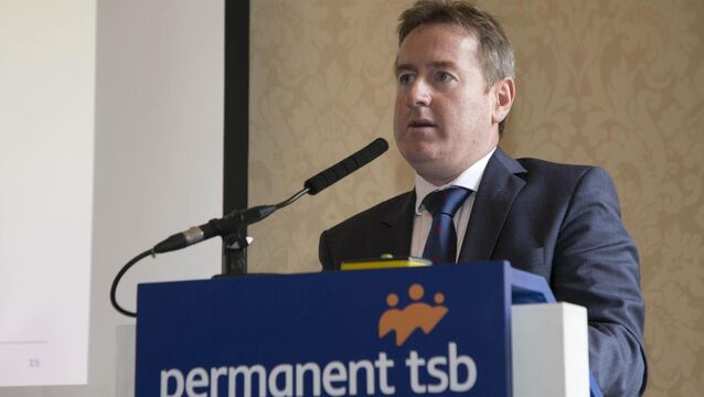 "<p>Permanent TSB chief executive Eamonn Crowley said Ulster Bank ""has a look and feel of a Permanent TSB already"". Photo: Colm Mahady / Fennells</p>"