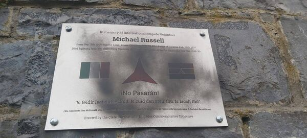 The memorial established for Michael Russell was vandalised in a suspected attack.