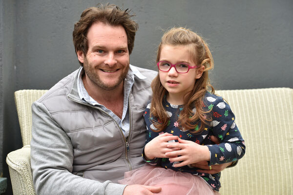 Neville Murphy and his daughter Ali. The operation has saved other children from pain and having to rely on a wheelchair. Picture: Dan Linehan