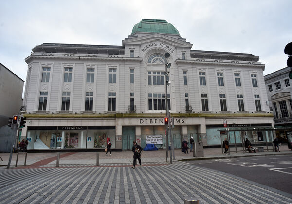 The former Debenhams store is the most prominent vacancy on St Patrick's St. Picture: Eddie O'Hare