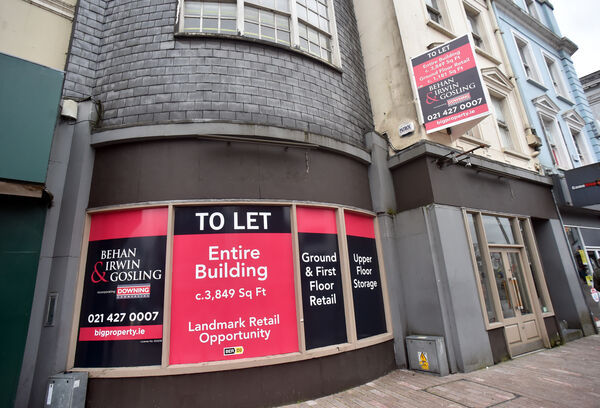 The former Clark's shoe shop on St Patrick St is now up for let. Picture: Eddie O'Hare