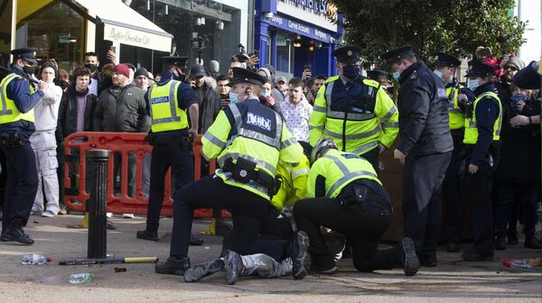 The violent scenes at a rally in Dublin last weekend have informed the preparation of the policing plan for Cork City on Saturday, a senior Garda spokesman said. Picture: Sam Boal/Rollingnews.ie