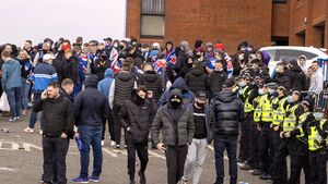 Rangers fans breach lockdown restrictions with Ibrox gathering