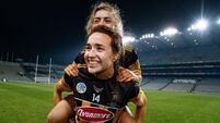 Denise Gaule and Meighan Farrell celebrate 12/12/2020