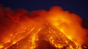 Ash rains down on towns as Etna keeps up its spectacular explosions
