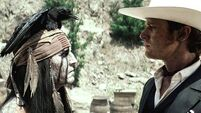 Some thrilling action in 'The Lone Ranger'