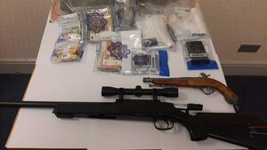 Gardaí seize drugs and sniper rifle after           search operation