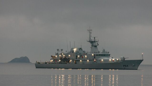 <p>The Irish Naval Service has sent the LÉ George Bernard Shaw to the location of a stricken trawler off the West Cork coast. 	Picture: David Creedon / Anzenberger</p>