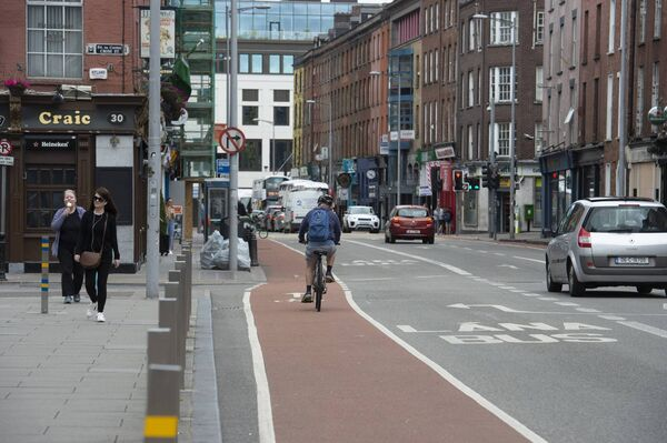 A cycle lane on Washington Street in Cork. Improved cycling infrastructure could transform the city as we know it.