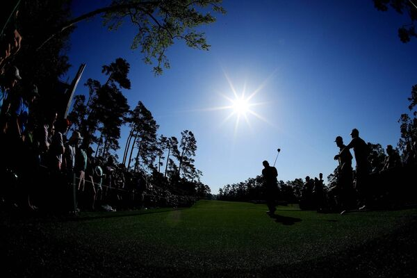 Phil Mickelson plays a shot from the 14th tee at Augusta National. (Photo by Andrew Redington/Getty Images)