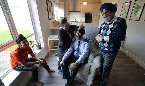 Ravinder Singh Oberoi and his proud family