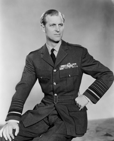 The Duke of Edinburgh in his uniform as a Marshal of the Royal Air Force