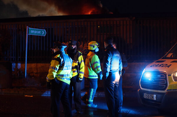 Fire at recycling plant in Churchfield, Cork.