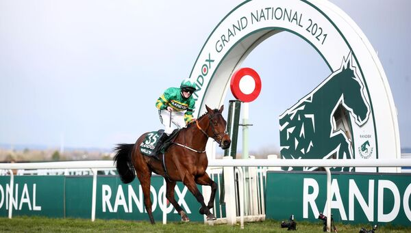 Minella Times, ridden by Rachael Blackmore, won the Grand National Handicap Chase at Aintree.