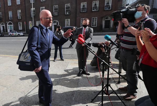Health Minister Stephen Donnelly's media interviews and Dáil appearances, in which he cannot provide answers on the pandemic and the rollout of the vaccine, have become so frequent they are no longer surprising. Picture: Niall Carson/PA Wire