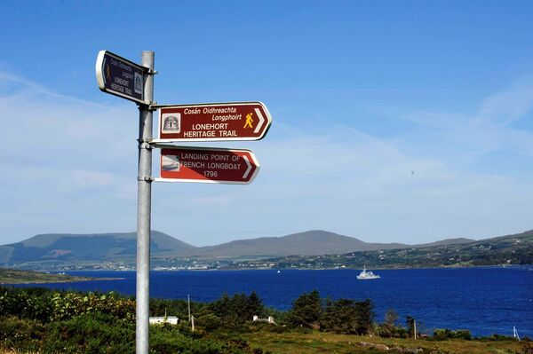 Beara Way signs, Bere Island, West Cork. /Picture: Denis Scannell