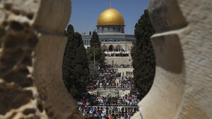 Muslims pray at sacred Jerusalem site on first Friday of Ramadan