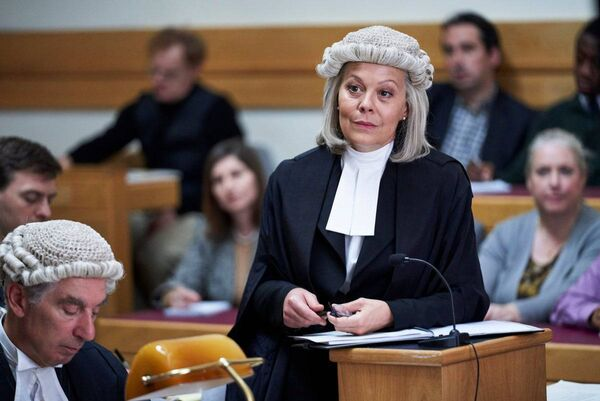Helen McCrory as a defence barrister in ITV drama Quiz