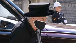 Queen in mourning emerges for beloved Philip's funeral