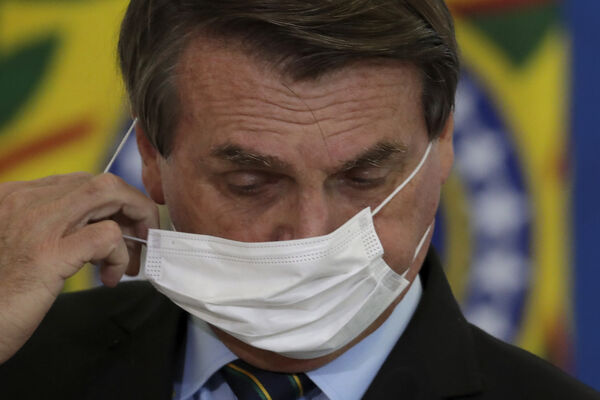 Brazilian President Jair Bolsonaro's handling of the pandemic has been widely criticised both in Brazil and internationally. File Picture: AP Photo/Eraldo Peres