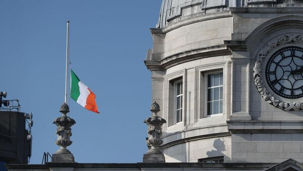 The tricolour was flown at half-mast on all State buildings to mark the death.