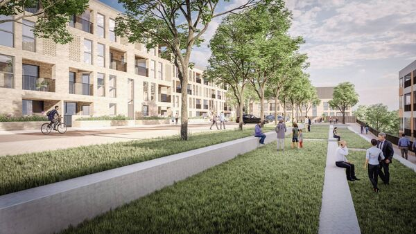 An artist impression of the St Kevin's Strategic Housing Development Project in Cork.