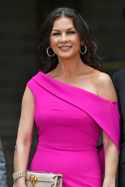 Catherine Zeta-Jones attending a ceremony where she was honoured by her home city with the Honorary Freedom of the City and County of Swansea.