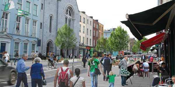 Computer-generated view of how the revamped O'Connell Street in Limerick will look.