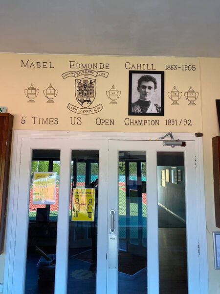 New tribute to Mabel Cahill Ireland's most successful tennis player at Kilkenny Lawn Tennis