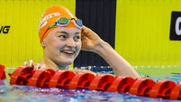 Mona McSharry celebrates breaking her own Irish record in the Breaststroke 20/4/2021