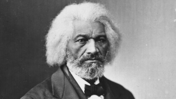 American journalist, author, former slave and abolitionist Frederick Douglass (1817 - 1895).