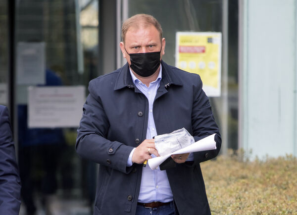 Mikhail Yegorov outside Blanchardstown District Court             this morning where he was accused of 21 money laundering             offences by possessing proceeds of criminal conduct, and one             charge of fraudulent trading of a ghost broker venture.             Photo: Colin Keegan, Collins Dublin