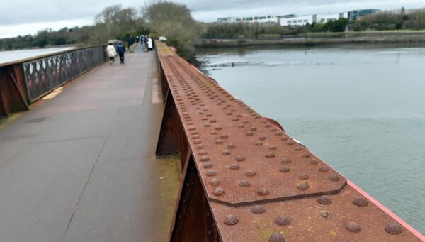 The former railway bridge which now forms part of the popular walking and cycling route linking the Marina near Cork City centre to Rochestown on the far side of the Douglas Estuary. Picture: Eddie O'Hare