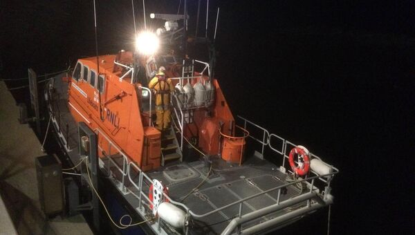Baltimore RNLI was called out to provide a medical evacuation in the early hours of Monday from Sherkin Island off the coast of Baltimore, West Cork. Picture: RNLI