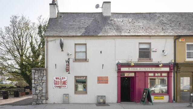 <p>The Hunted Hog bar, Castlemartyr, Co Cork, on the market for €475,000, previously traded as Pat Shortt's. It's close to the Castlemartyr Resort Hotel and wedding venue and has huge passing traffic.</p>