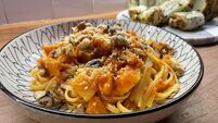 Cooking with Colm O'Gorman: Roast butternut squash and red pepper linguine with walnuts