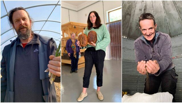 <p>Ultan Walsh; Emma Clutterbuck and Sarah Richards; Tom Fouhy</p>
