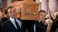 'A Dub and one of our own': Friends and family bid Gay Byrne goodbye