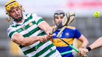 Tom Morrissey breaks the hurl of Jake Morris 8/5/2021