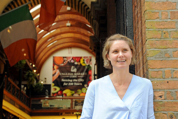"""Rebecca Harte of the Farmgate Café in the English Market said: """"The idea that public toilets would be placed at the main entrance to the market just beggars belief."""" Picture: Denis Minihane."""