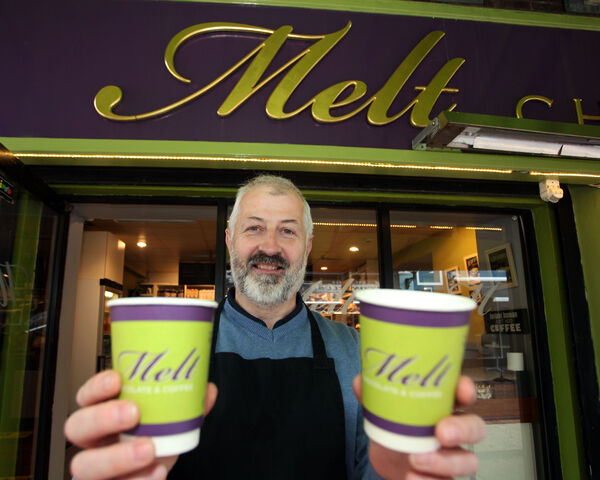 Kevin Hogan, owner of Melt Cafe, Little Catherine Street, Limerick opened for the first time in months. Picture: Brendan Gleeson